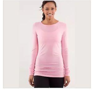 Lululemon devotion pullover long sleeve pink 8